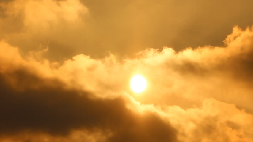 Sun. Sunrise, sunset. Clouds, smoke.  | Shutterstock HD Video #3471077
