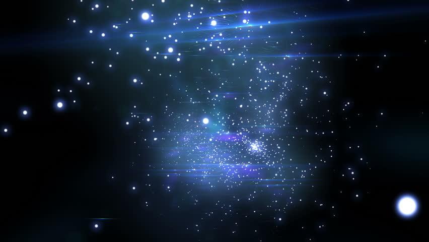 Beautiful Flight through the stars. Looped animation. HD 1080. - HD stock video clip