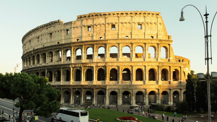 Colosseum Or Flavian Amphitheatre In Rome, View From