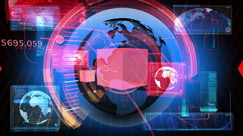 Digital Data Code Network Interface Technology | Shutterstock HD Video #3509804