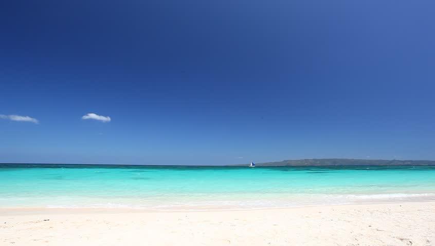 Turquoise sea, Puka beach, Boracay, Philippines