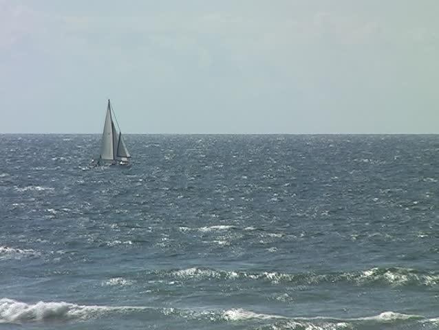 Sailboat sailing - SD stock video clip