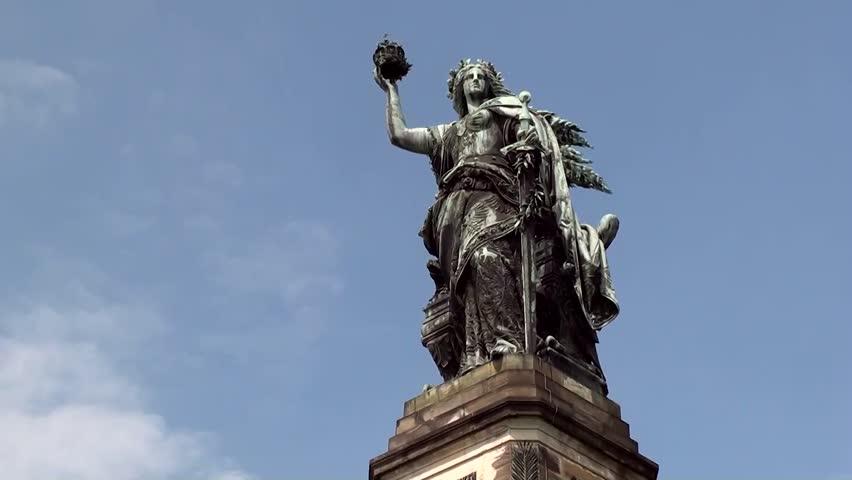 Niederwald monument - HD stock video clip