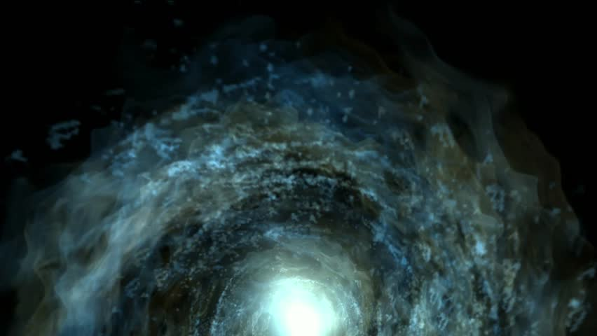 energy vortex in universe,travel in tunnel hole. - HD stock footage clip