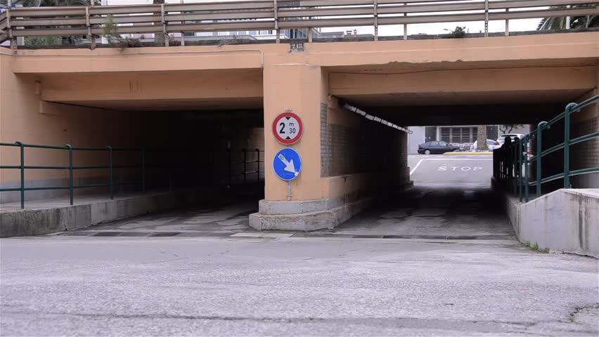 PORTO SAN GIORGIO, ITALY - SEPT 2012 : Auto and pedestrian traffic on a street - HD stock footage clip