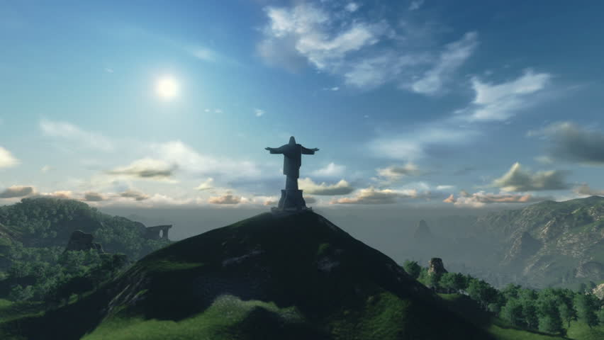 Christ the Redeemer Time Lapse Sunset, Rio de Janeiro - HD stock video clip