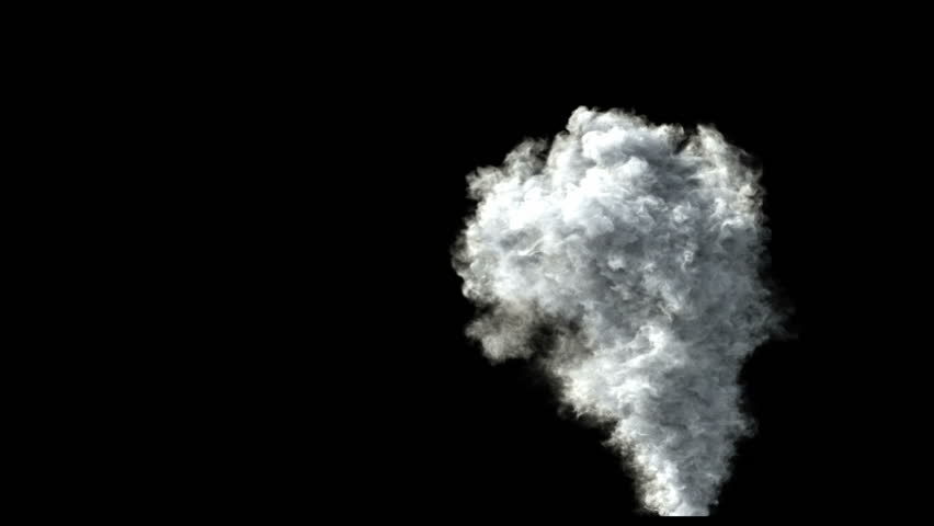 high detailed rising smoke (high definition, 1080p with alpha)