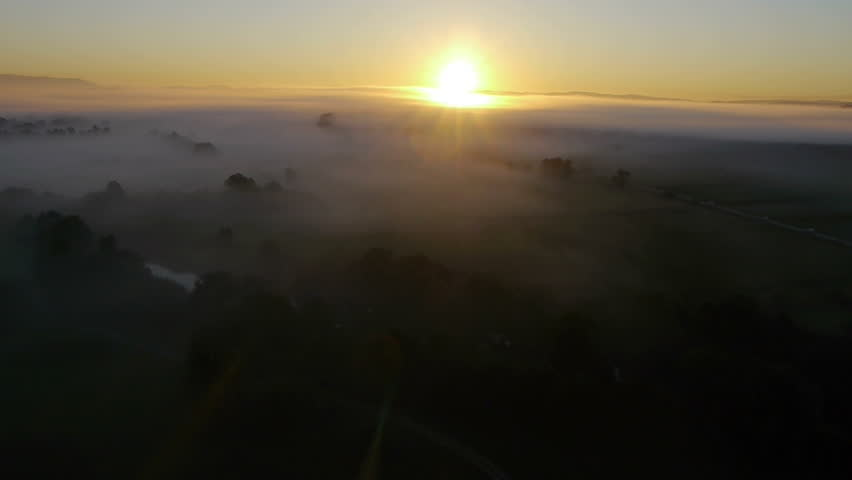 Rising up over a morning mist