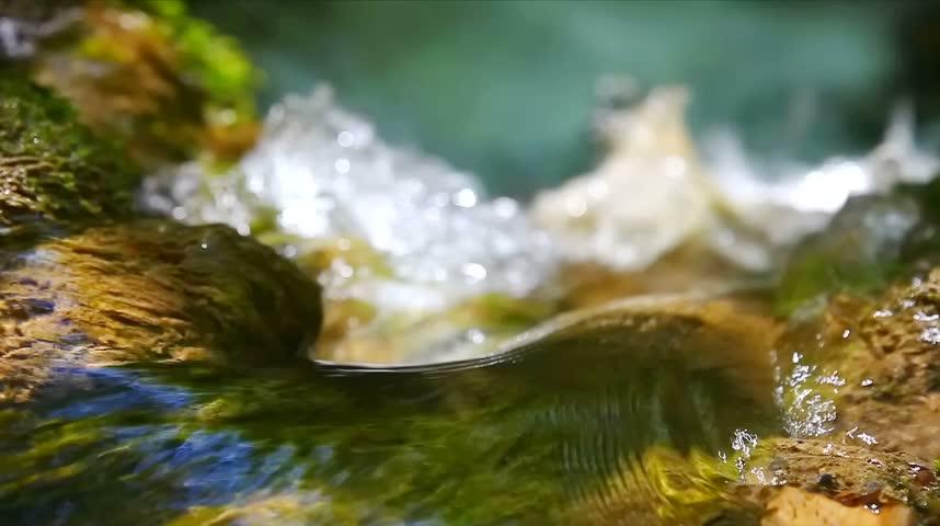 Waterfall Effect flowing water LOOPING - HD stock footage clip