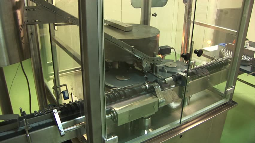 Automated production of medicines. Production line for tablet (pill),