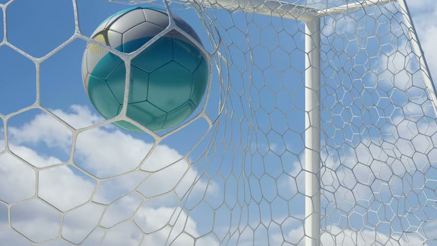 Argentinian Ball Scores with Sky Background - HD stock video clip