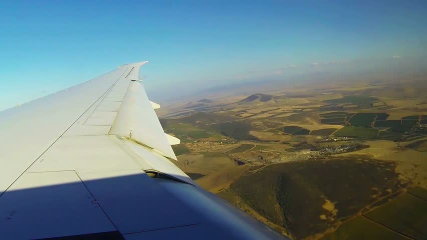 Aerial flyover South Africa Cape Doha city