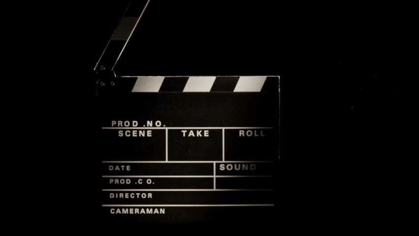 Clapperboard, Clapper, 2 Clips Sequence Stock Footage ...
