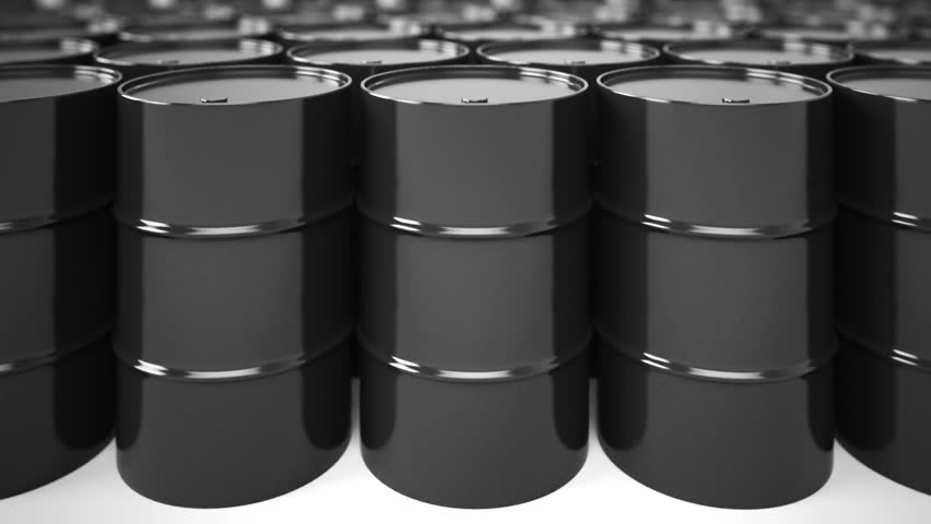 Black Oil Barrels Loopable Animation Stock Footage Video