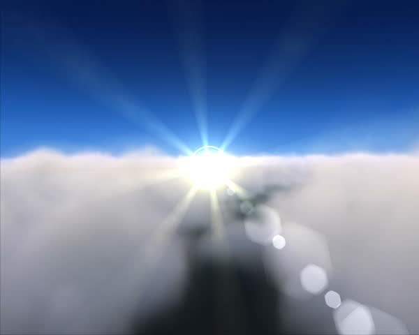 Cloud fly over. Clean progressive PAL frames clip. God's point of view. Loop able. - SD stock footage clip
