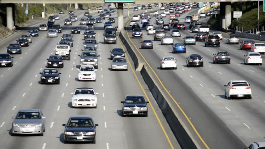 Heavy Traffic In Los Angeles Circa March 2013 | Shutterstock HD Video #3648935