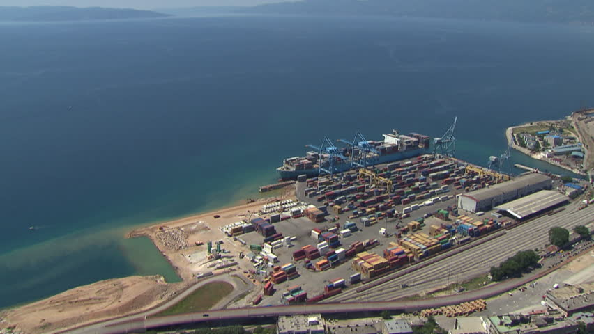RIJEKA, CROATIA - OCTOBER 23, 2009: Container ship Maersk Karachi on line Asia