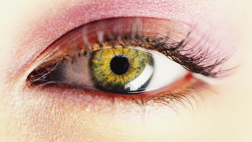 Macro Close-up eye blinking - HD stock video clip