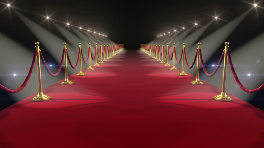 Red Carpet. Looped animation. HD 1080.
