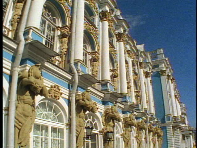 St. Petersburg, Russia, Summer Palace (blue and white) | Shutterstock HD Video #3693521