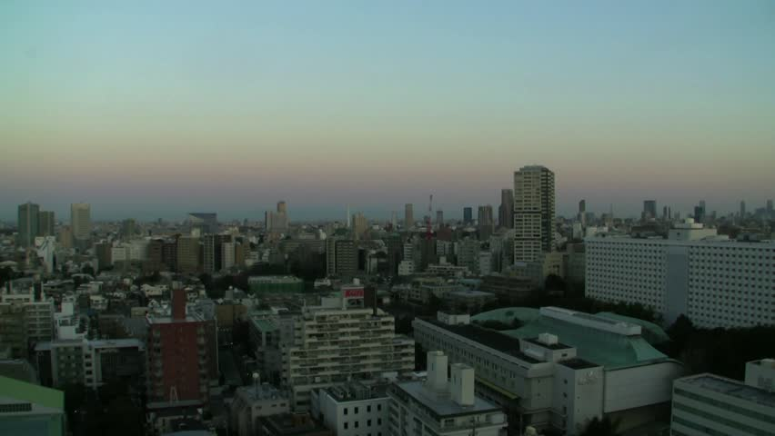Tokyo Cityscape Morning Sun Time Lapse