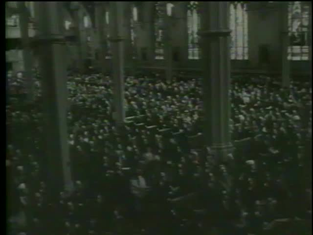 Kennedy Memorial Service at Boston Cathedral of the Holy Cross January, 19 1964-MGM PICTURES, UNIVERSAL-INTERNATIONAL NEWSREEL, USA, filmed in 1964 - SD stock video clip