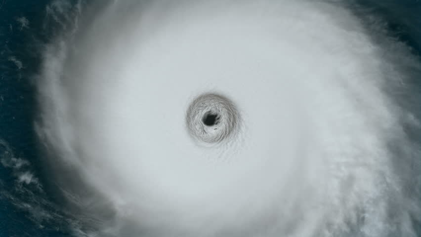Hurricane Into The Eye A Large Hurricane Spins
