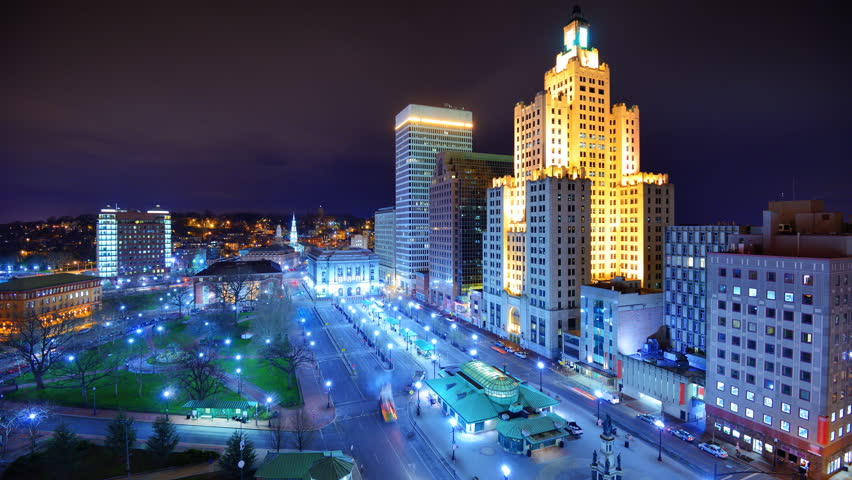 Downtown Providence, Rhode Island, USA. - HD stock footage clip