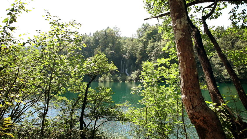 Beautiful landscape in Plitvice national park - HD stock video clip