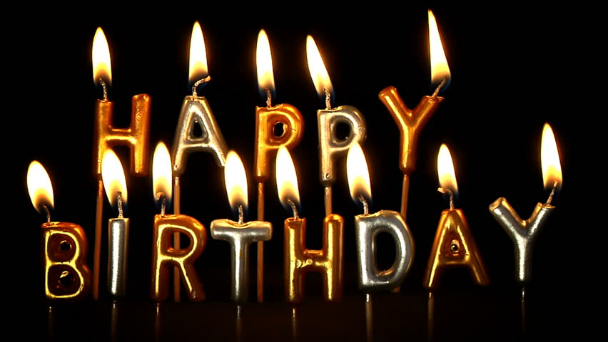 Happy Birthday Candles Stock Footage Video 3779867