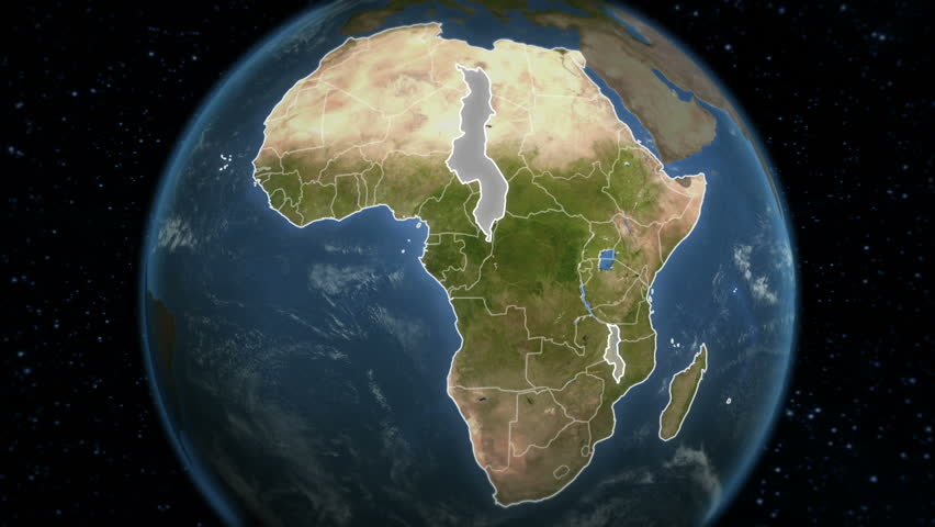 Loop-able spinning Earth with African country maps.  Each country border freeze a few seconds to let you edit and change the order or duration.