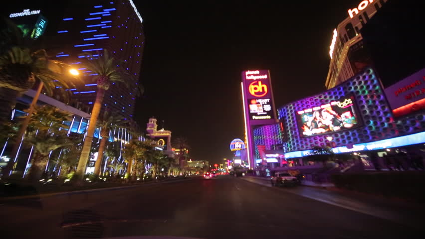 Las Vegas strip driving shot at night | Shutterstock HD Video #3797795