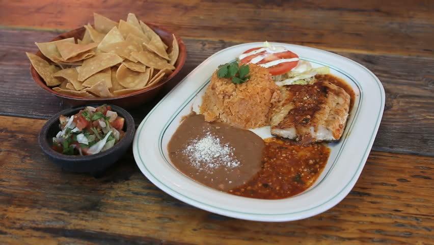 Dinner Fish Salsa - HD stock footage clip