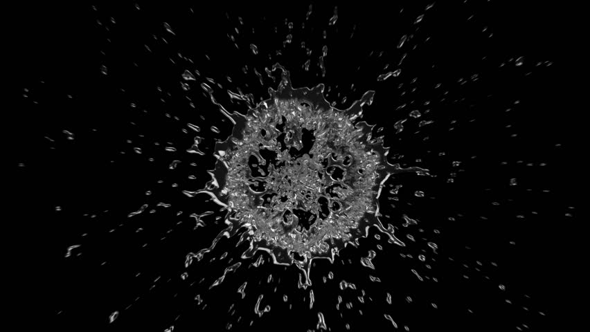 Two shots of water splashing in slow motion. Black background. Alpha matte included. SEE MORE OPTIONS IN MY PORTFOLIO. | Shutterstock HD Video #3811088