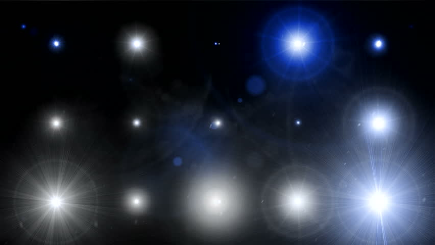 Fancy Light Effects In A Dark Background Stock Footage: Many Light Flashes Effect Over Black Background Stock