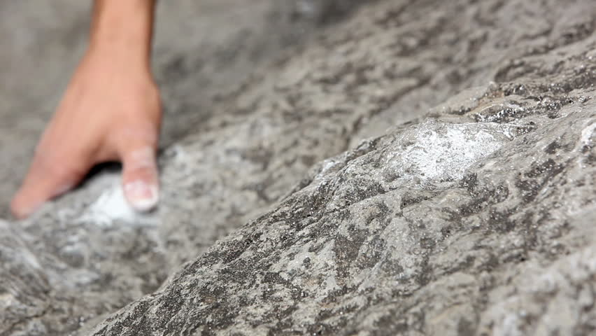 Close up of hands of a man rock climbing | Shutterstock HD Video #3824975