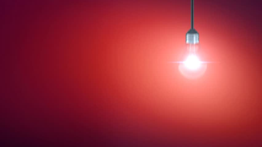 Light Bulb Motion On Red Background Stock Footage Video 3855287 Shutterstock