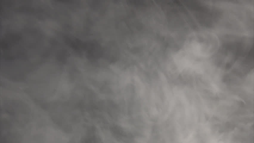 White Smoke floats over black background