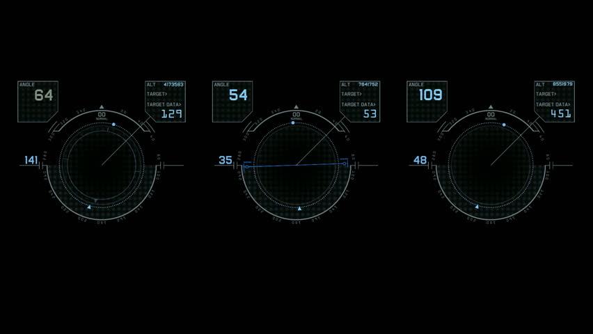 Computer game interface,hi-tech software panel,aviation radar GPS navigation screen display,center of target. | Shutterstock HD Video #3861227