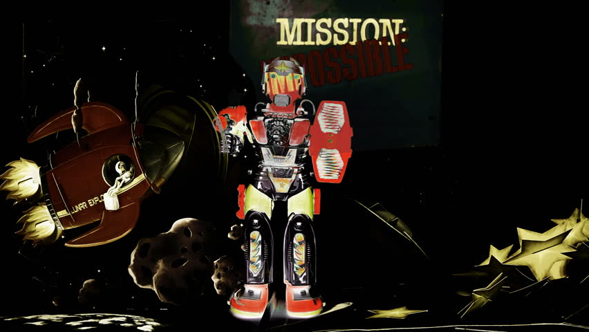 Mission impossible Marching robot toy