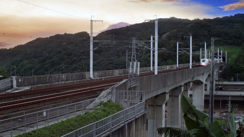 Modern High Speed Train for adv or others purpose use - HD stock footage clip