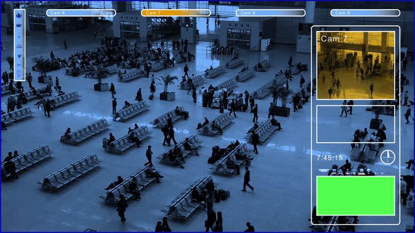Surveillance with green screen