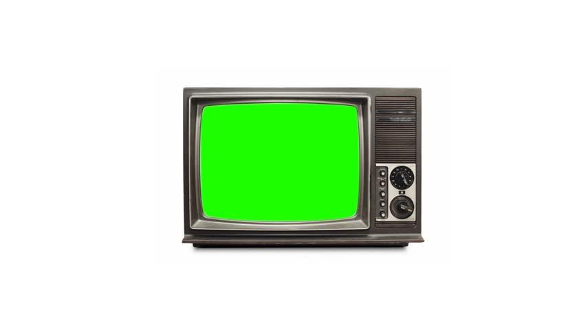 TV screen with green screen | Shutterstock HD Video #3884834