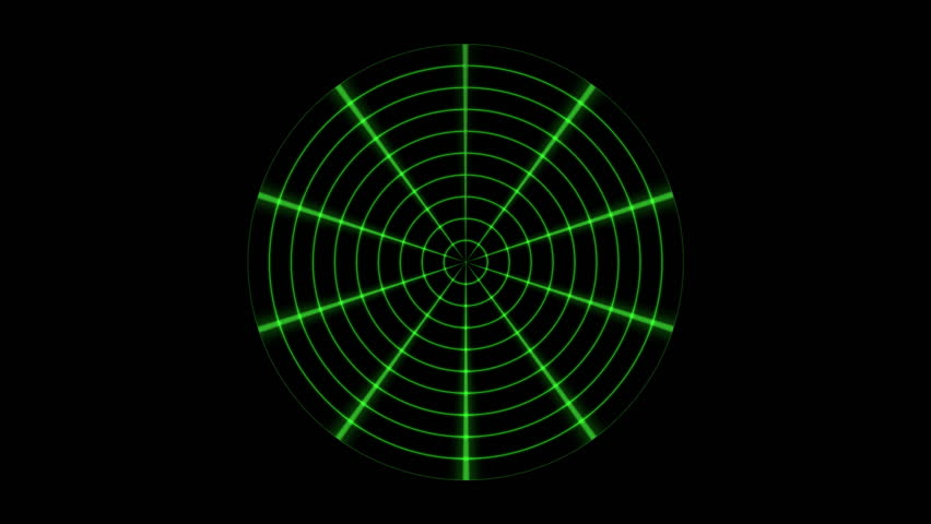 Radial Radar Footage Stock Clips