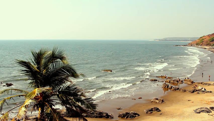 Goa Beach Hd Images: India Goa Vagator Beach February 20, 2013. Seaside