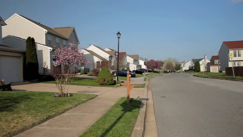 Suburban Neighborhood - HD stock video clip