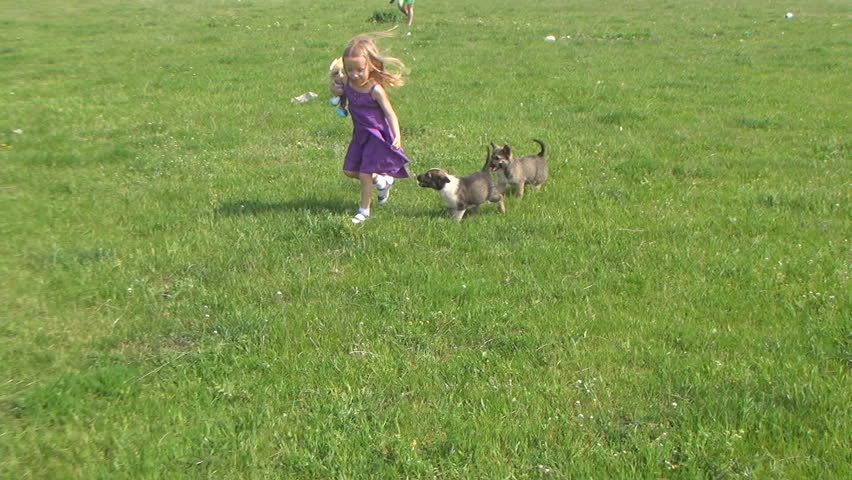 Child Kissing Her Puppy, Child Playing With Her Little Dog ... Relaxing Dogs