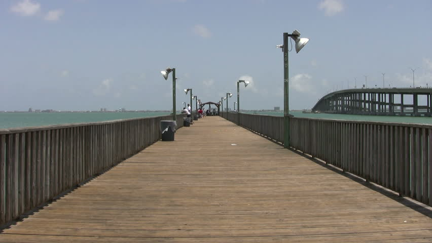 Video of fishing pier at port isabel texas zoom out from for South padre island fishing pier