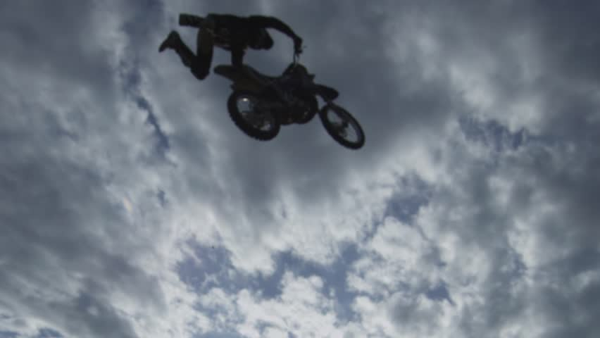 Motocross Rider Doing Crazy Stunts