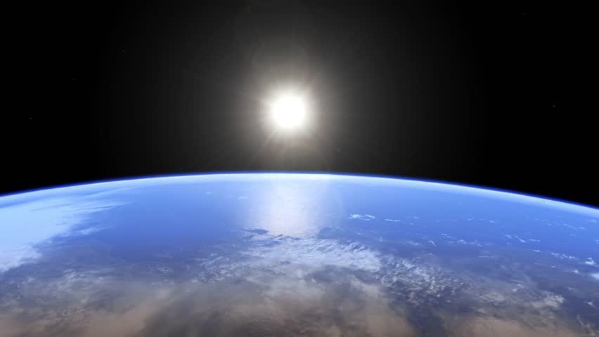A sunrise over the Earth.